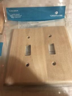 wooden light switch cover Double Toggle Case Of 50