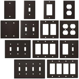 Wrinkle Brown Textured Metal Wall Plate Covers Switch Plates