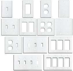 Wrinkle White Textured Metal Wall Plate Covers Switch Plates