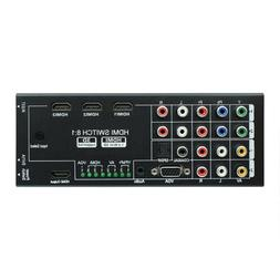 YPBPR VGA Video AV Audio HDMI Switch 8x1 Switcher HDTV Split